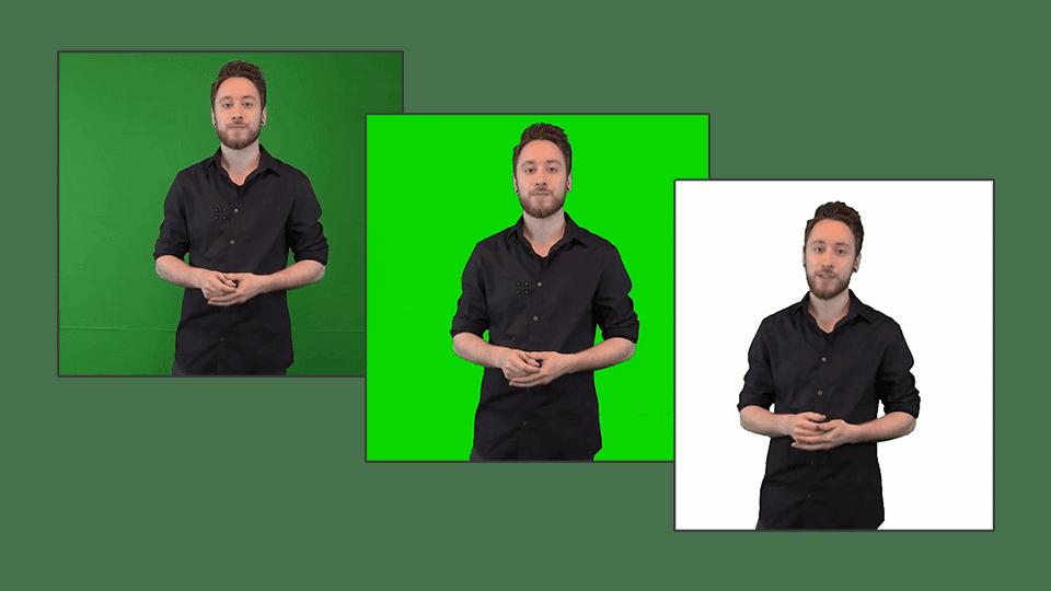 Bild zeigt die Bildhinterlergung der coovi Plattform, bei dem Greenscreen-Aufnahmen optimal umgesetzt werden können