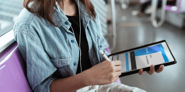 Mobiles Lernen im Zug